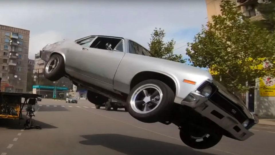 Fast and the Furious nine car stunts