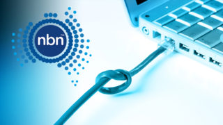 NBN co logo and computer with internet problems