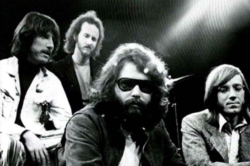 Lead singer of The Doors Jim Morrison with the band
