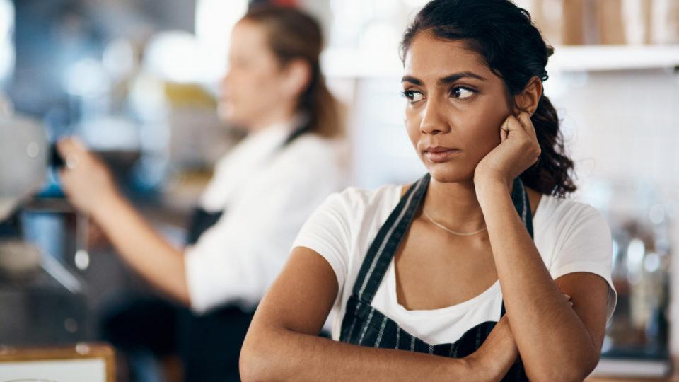 Waitress worried about her unpaid super