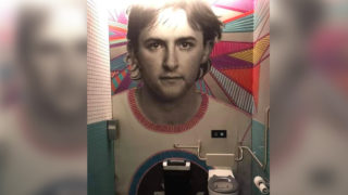 anthony albanese as a toilet mural