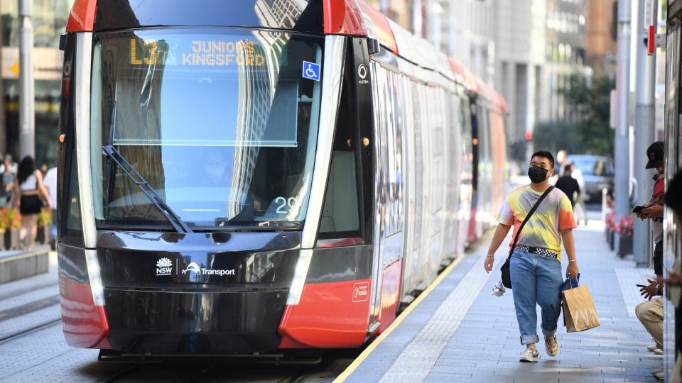 A tram built overseas