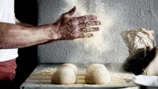 Making bread at Atiyah restaurant