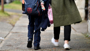 Parents collected their kids from a Waverley primary school.
