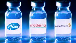 Moderna, Pfizer and AstraZeneca COVID vaccines