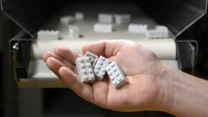 Lego unveils recycled bricks