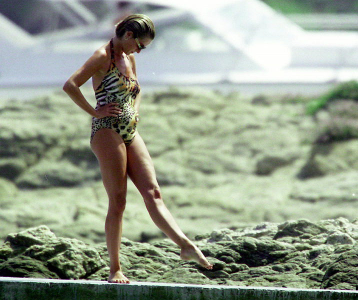 Diana on the beach in St Tropez