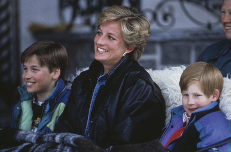 Diana with sons William and Harry