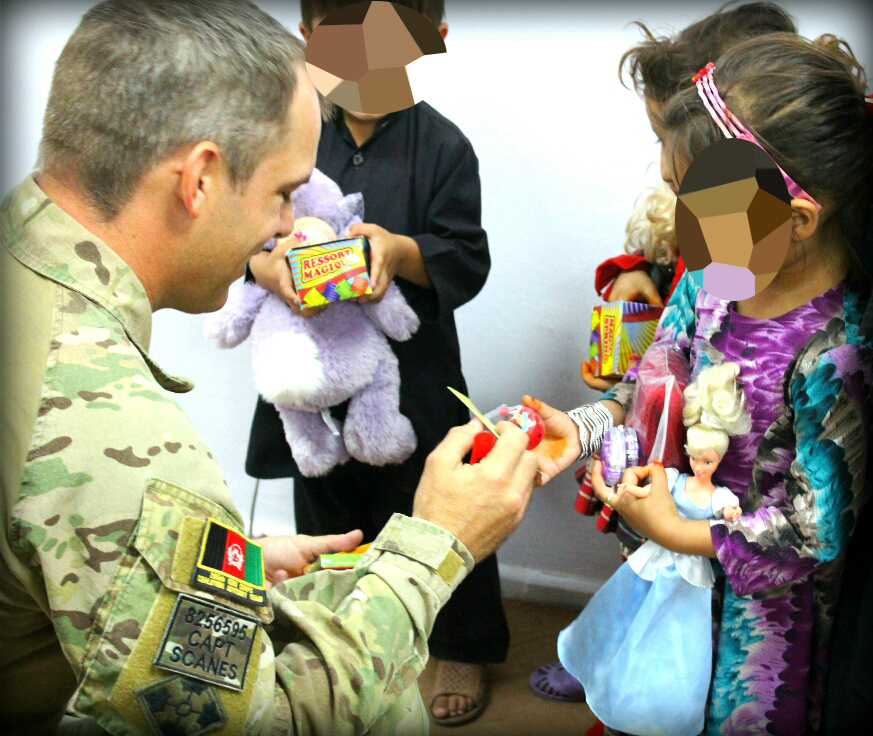 Army captain Jason Scanes worked with Afghan interpreters