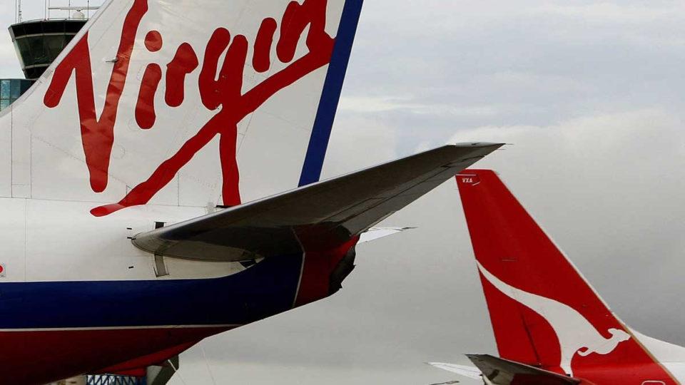 Qantas and Virgin Australia planes