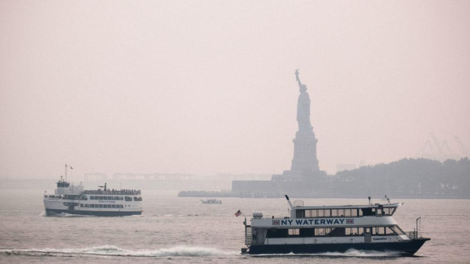 smoke haze fires new york