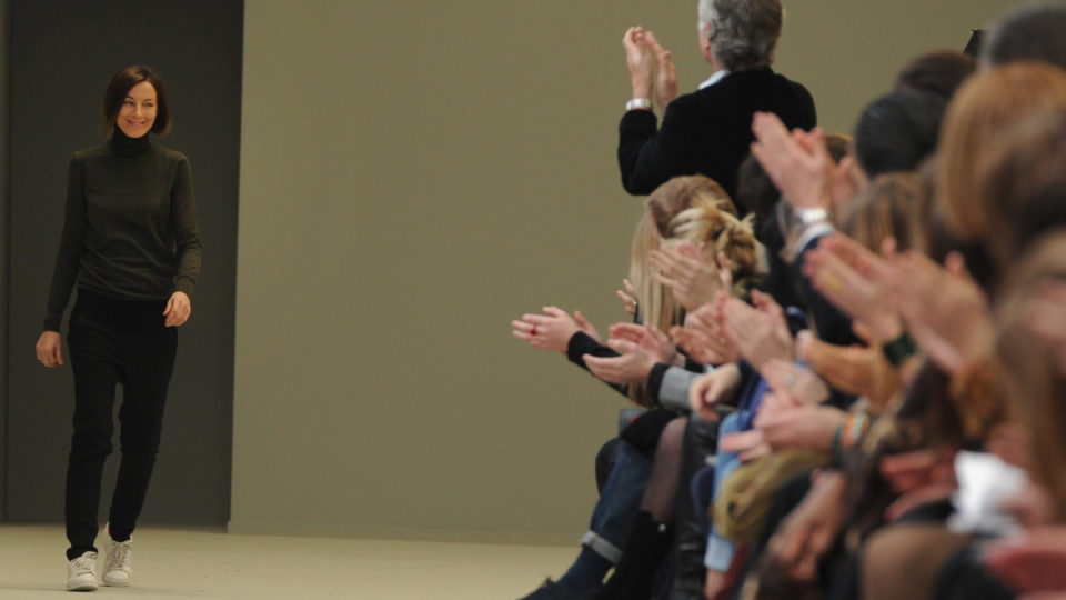 Phoebe Philo attends the Celine Ready to Wear Autumn/Winter 2011/2012 show, at Paris Fashion Week, in Paris. (