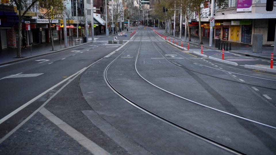NSW lockdown george street empty sydney