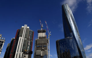 Recession empty building construction NSW Barangaroo July