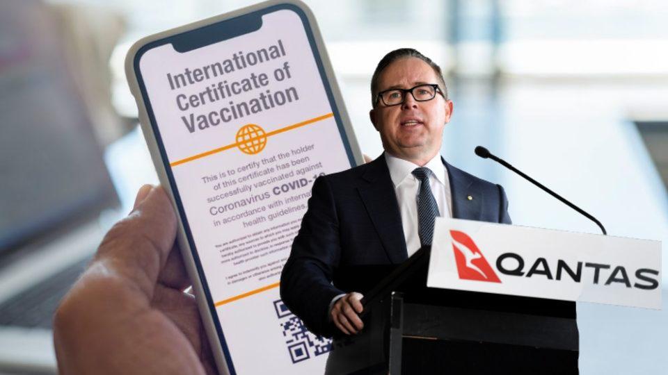 Qantas announces vaccine passports