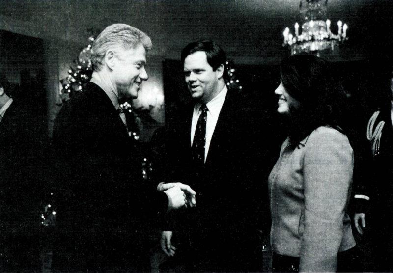 Bill Clinton and Monica Lewinsky meet