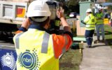 NBN contractor Foxcomm install an FTTN on the corner of Parry and Darby Street Cooks Hill, Newcastle NSW 27/07/15.