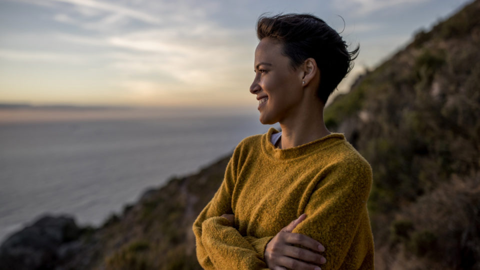 climate change ethical investing smiling woman