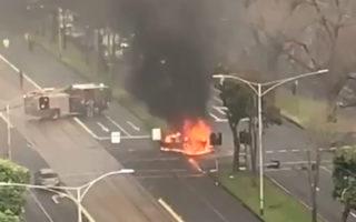 car explosion melbourne