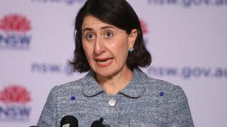 NSW Premier Gladys Berejiklian addresses media during a press conference in Sydney, Saturday, August 21, 2021