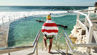 Bronte Splashers Swimming Club members prepare to race at Bronte Pool on July 23, 2017 in Sydney, Australia. Founded