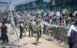 Australian troops at Hamid Karzai airport in Kabul.