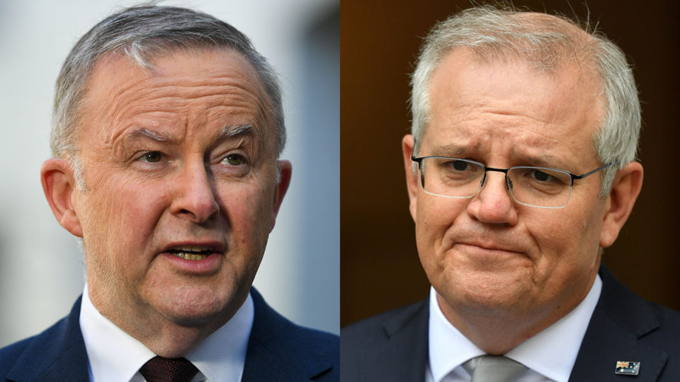 national plan reopening Scot Morrison Anthony Albanese