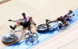 cyclists bike crash