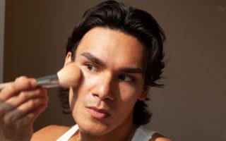 man using makeup