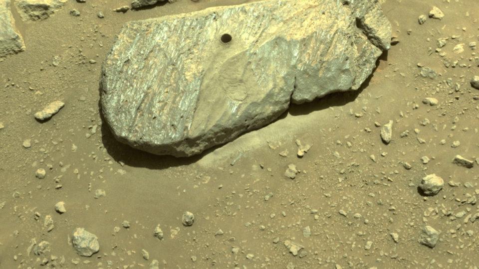 mars rover rock