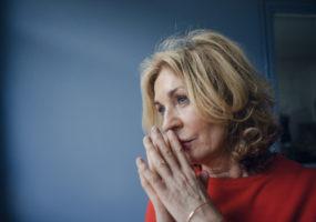 superannuation sad older woman