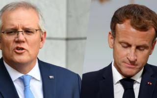 Scott Morrison Emanuelle Macron