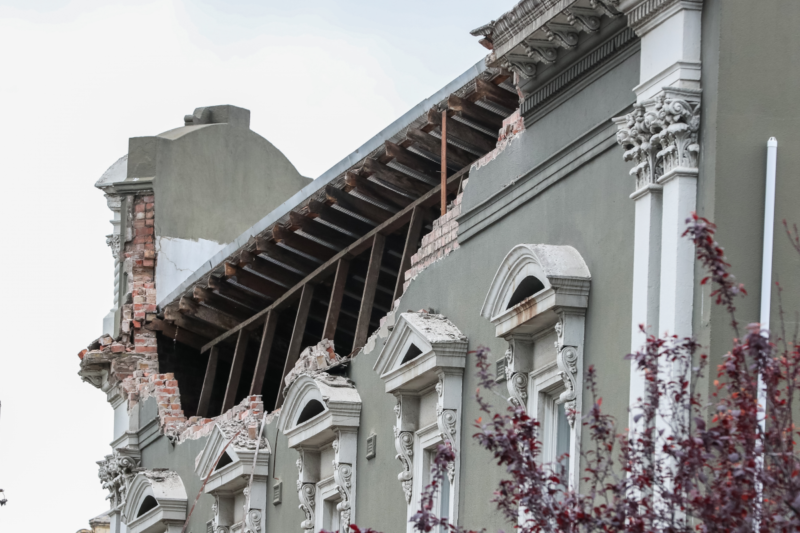 Damage from the Melbourne earthquake