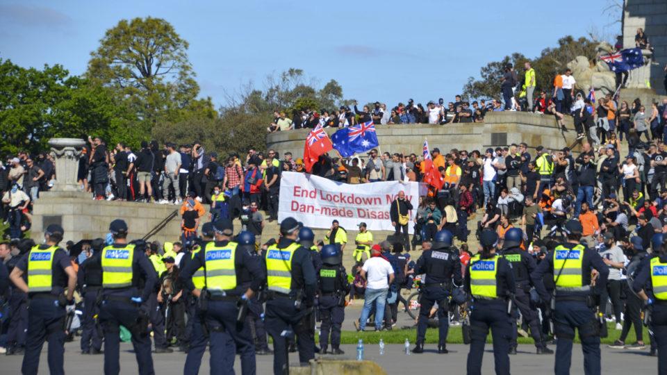 melbourne protests shrine