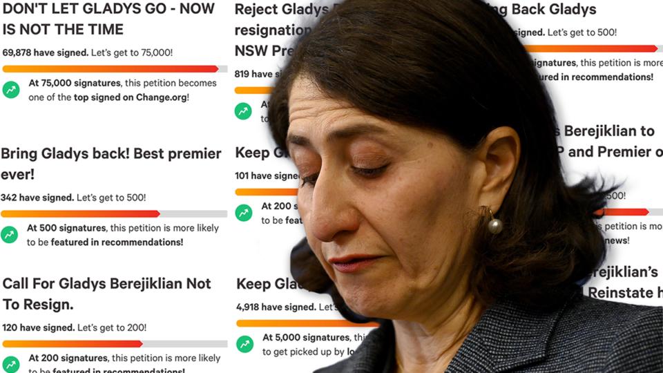 berejiklian Some people in NSW have created Change.org petitions to keep Gladys Berejiklian as Premier.
