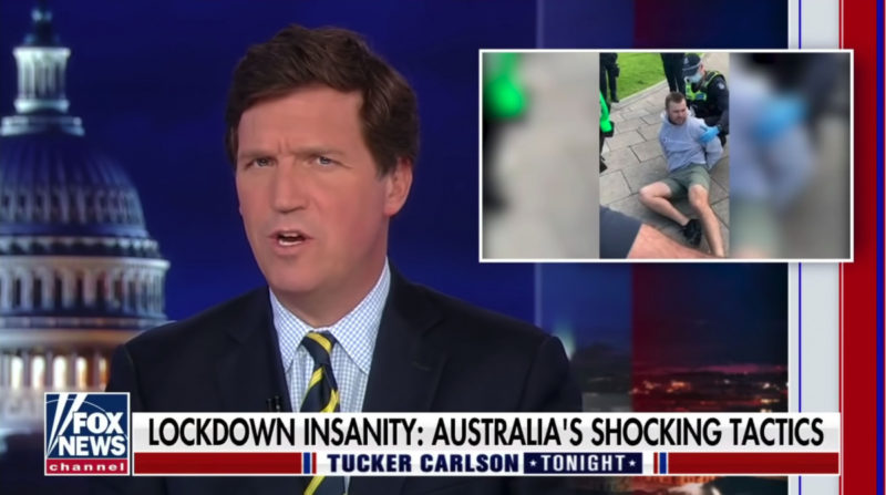 Fox News pundits have been focusing on Australia's lockdown restrictions.
