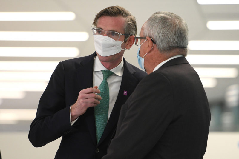 NSW Premier Dominic Perrottet and Health Minister Brad Hazzard
