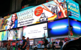 Dan Ilic's climate change billboards at Time Square in New York City.